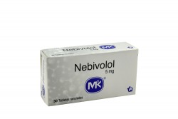 Nebivolol 5 mg MK Caja Con 30 Tabletas Ranuradas Rx Rx4