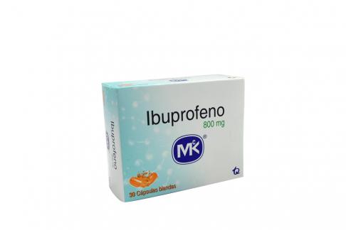 Ibuprofeno 800 mg MK Caja Con 30 Cápsulas Blandas Rx