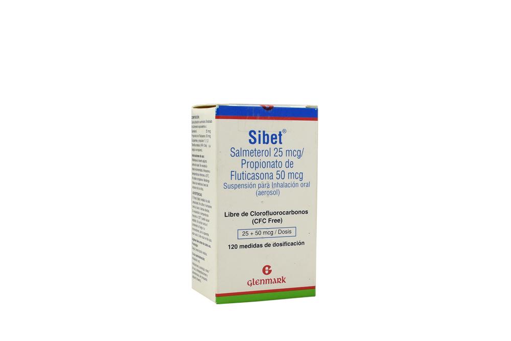 Sibet 25 / 50 mcg Caja Con Frasco Con 120 Dosis Rx