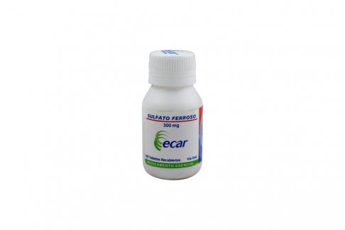 Sulfato Ferroso 300 mg Frasco Con 100 Tabletas Recubiertas Rx
