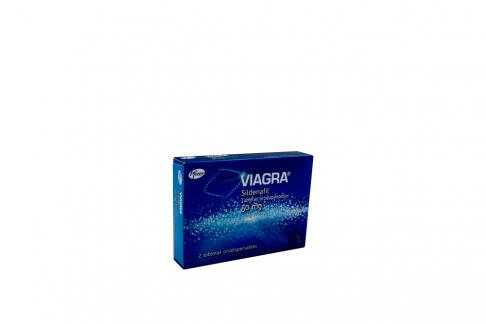 Viagra Sildenafil 50 mg Caja Con 2 Tabletas Orodispersables Rx