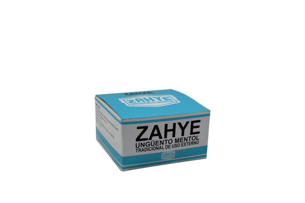 Ungüento Mentol Zahye Caja Con 12 Latas Con 5 g C/U