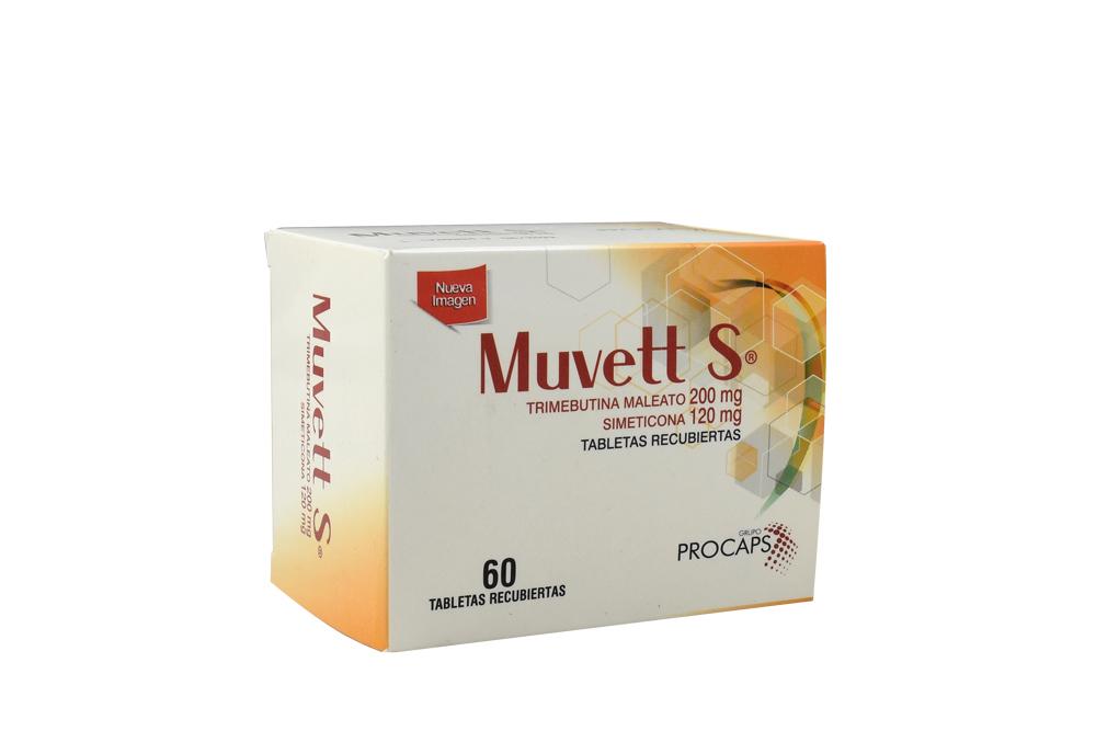 Muvett S 200 / 120 mg Caja Con 60 Tabletas Recubiertas Rx Rx4