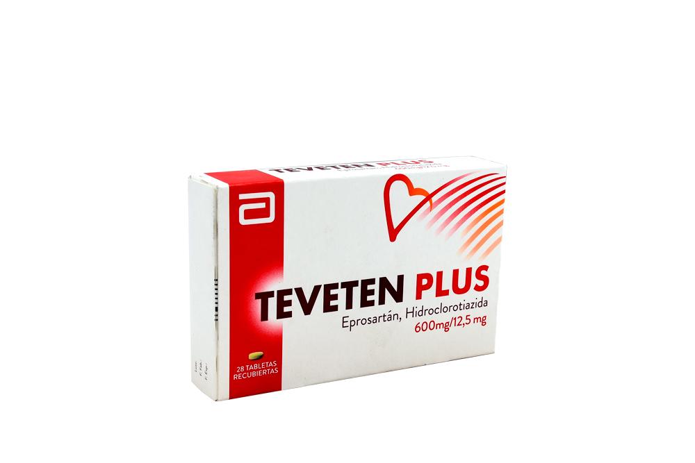 Teveten Plus 600 / 12,5 mg Caja Con 28 Tabletas Recubiertas Rx Rx4