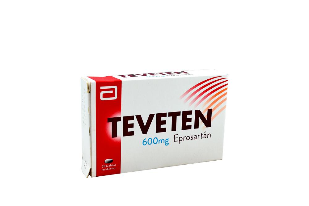 Teveten 600 mg Caja Con 28 Tabletas Rx Rx4