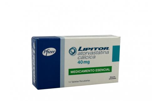 Lipitor 40 mg Caja Con 14 Tabletas Recubiertas Rx Rx4