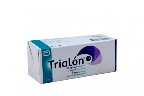 Trialón 20/5/2 mg Solución Oftálmica Caja Con 1 Frasco Con 10 mL Rx