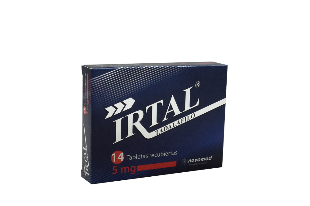 Irtal Tadalafilo 5 mg Caja Con 14 Tabletas Recubiertas Rx