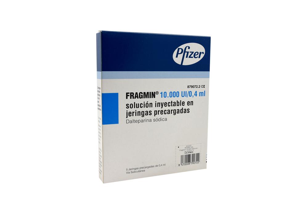 Fragmin 10.000 UI / 0.4 mL Caja Con 5 Jeringas Precargadas Con 0.4 mL Rx Rx4