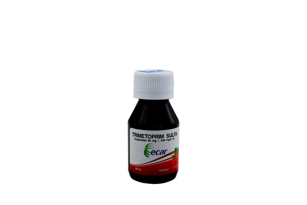 Trimetoprim / Sulfametoxazol 80+400mg / 5mL Suspensión Caja Con Frasco Con 60 mL Rx Rx2