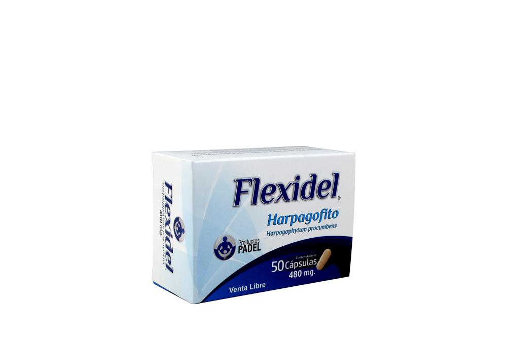 Flexidel 480 mg Caja Con 50 Cápsulas