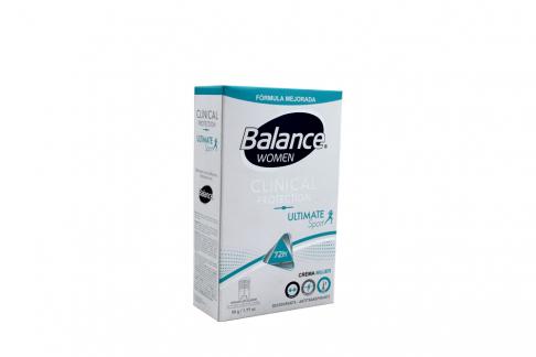 Desodorante Balance Women Clinical Ultimate Sport Crema Frasco Con 50 g