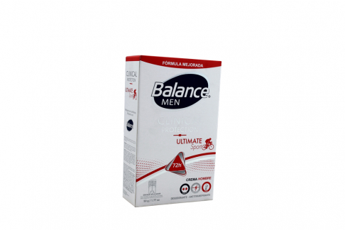 Desodorante Balance Clinical Ultimate Sport Men Crema Frasco Con 50g