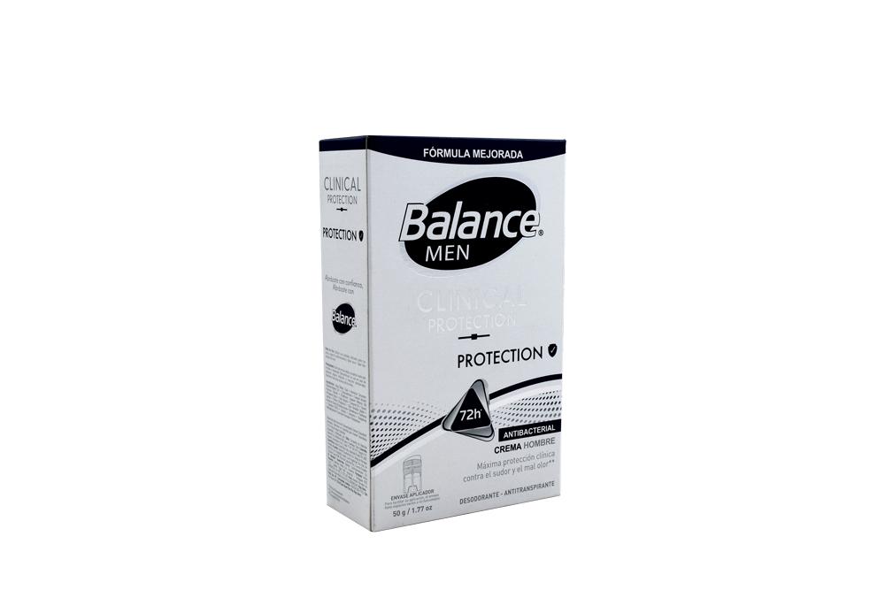 Desodorante Balance Men Clinical Protection Crema Frasco Con 50 g