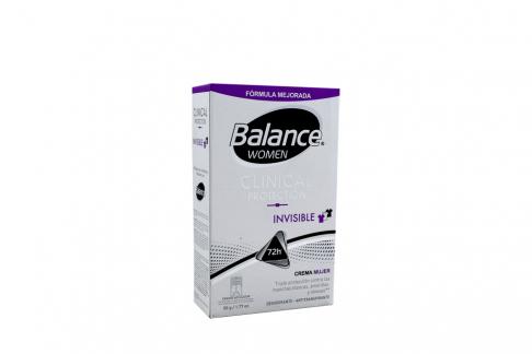 Desodorante Balance Women Clinical Protection Invisible Crema Frasco Con 50 g
