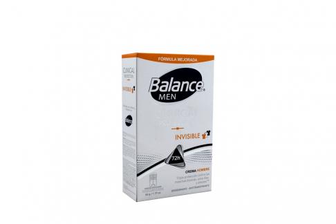Desodorante Balance Men Clinical Protection Invisible Crema Frasco Con 50 g