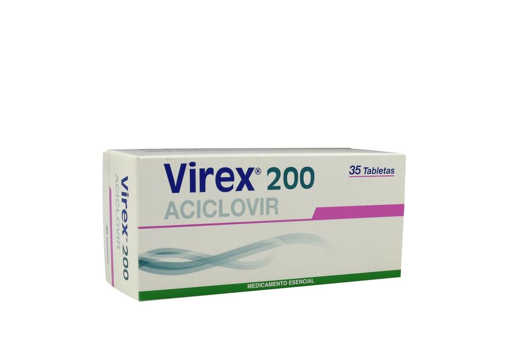 Virex 200 mg Caja Con 35 Tabletas Rx Rx2