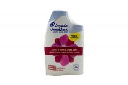 Shampoo Head & Shoulders Suave y Manejable 2 En 1 Empaque Con Frasco Con 375 mL + Frasco Con 180 mL