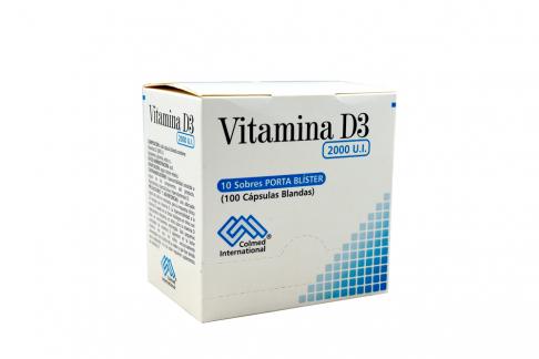 Vitamina D3 2000 UI Caja Con 100 Cápsulas Blandas Rx