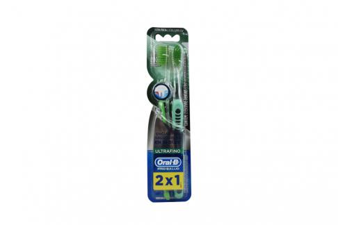 Cepillo Dental Oral B Pro Salud Ultrafino Empaque Con 2 Unidades