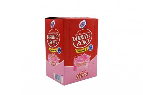 Kola Granulada JGB Tarrito Rojo Sabor A Fresa Caja Con 6 Sobres De 25 g C/U
