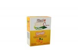 Vical Vitamina C + Zinc 1000 mg Caja Con 10 Sobres – Sabor Naranja