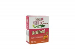 Vical Vitamina C + Zinc 1000 mg Caja Con 10 Sobres – Sabor Tutti Frutti