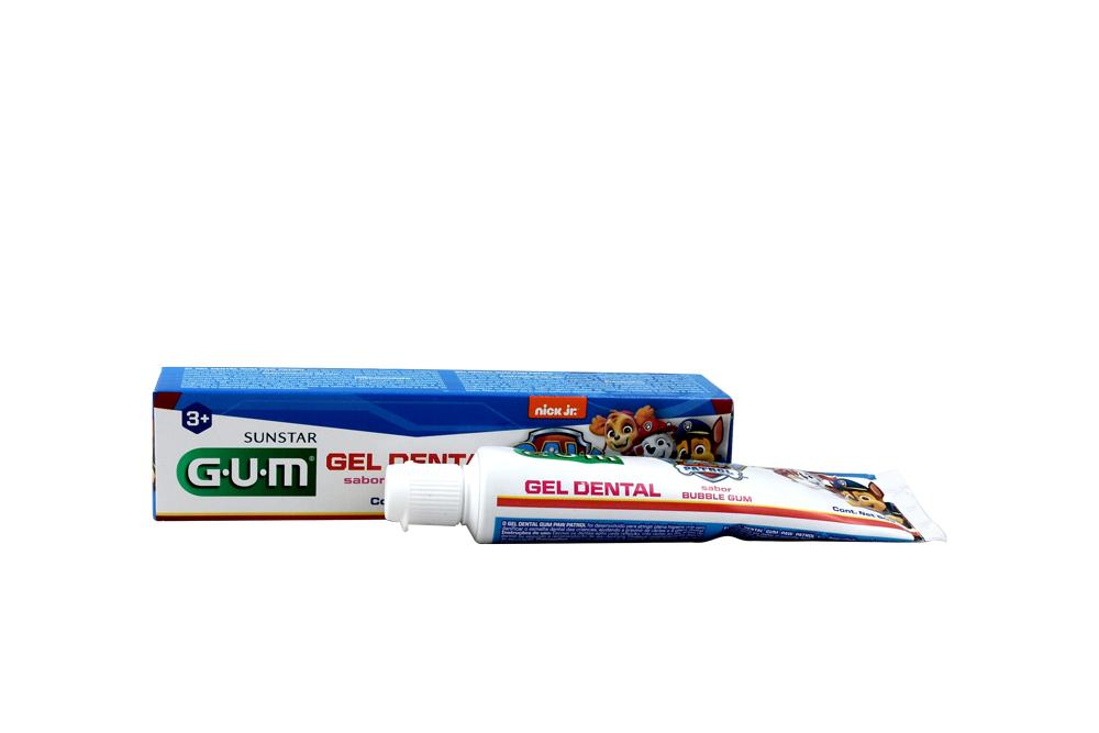 Gel Dental Gum Paw Patrol Caja Con Tubo Con 50 g
