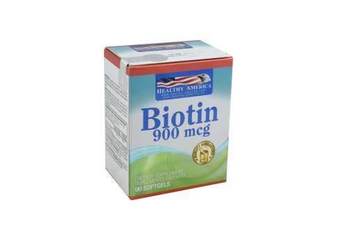 Biotin 900 Mcg Frasco Con 90 Cápsulas