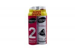 Desodorante Balance Invisible Women Aerosol Empaque Con 2 Unidades De 160 mL C/U