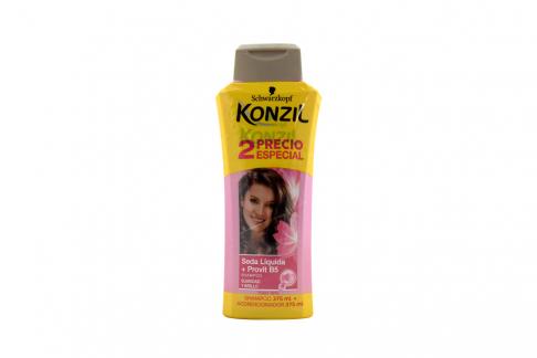 Shampoo Konzil Seda Liquida Provitamina B5 Frasco Con 374 mL + Acondicionador