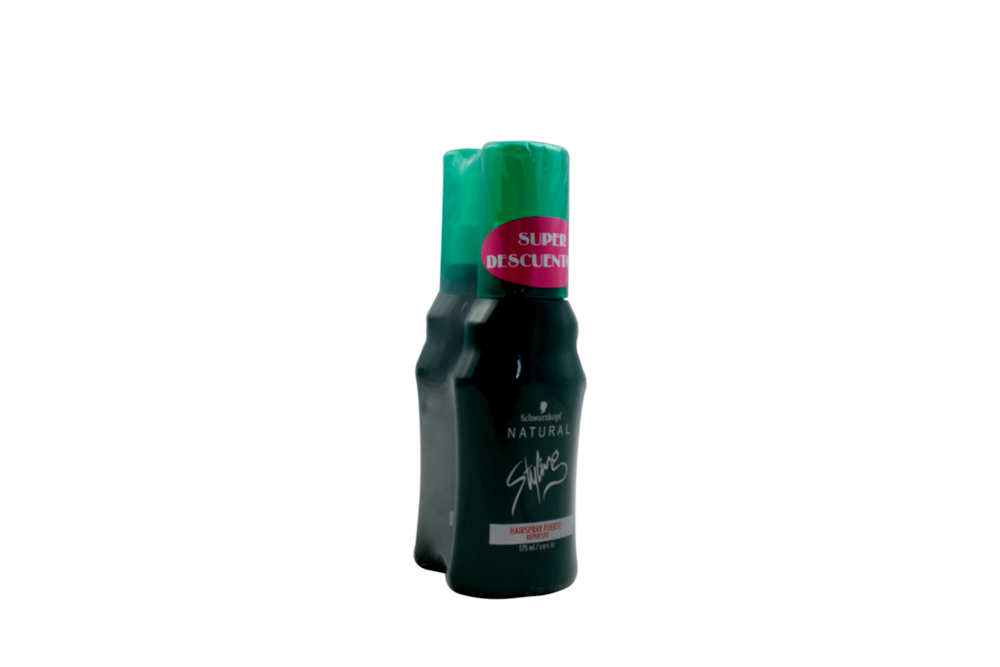 Oferta Fijador Styling Spray Fuerte Frasco Con 175 mL + 175 mL
