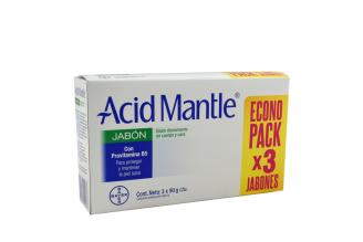 Jabón Acid Mantle Caja Con 3 Barras Con 90 g C/U - Econopack