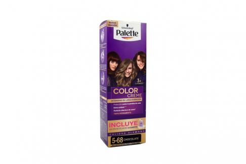 Tinte Palette Color Creme Tubo 5-68 Chocolate + Oxigenta Caja con 2 Unidades