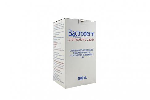 Jabón Líquido Bactroderm Clorhexidina 4% Caja Con Bolsa Con Válvula Por 1000 mL