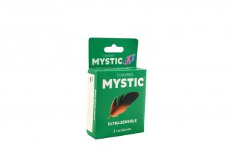 Preservativos Mystic Ultra Sensible Caja Con 3 Unidades