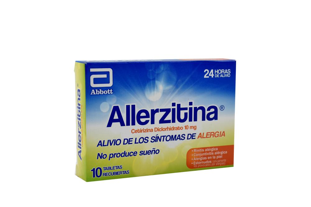 Allerzitina 10 Mg Caja Con 10 Tabletas