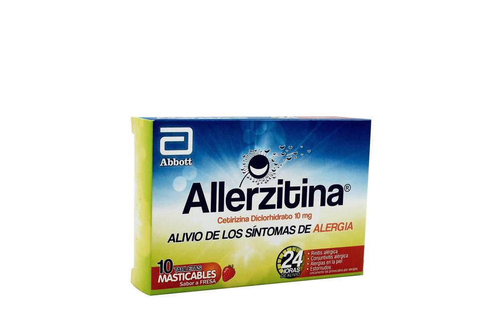 Allerzitina 10 Mg Caja Con 10 Tabletas Masticables