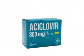 Aciclovir 800 Mg Caja Con 50 Tabletas Rx Rx2