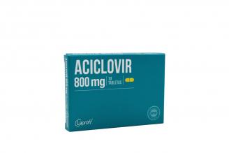 Aciclovir 800 Mg Caja Con 10 Tabletas Rx Rx2