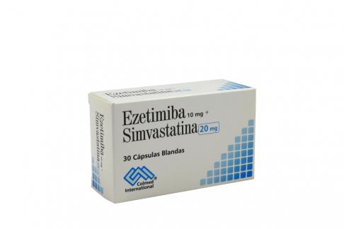 Ezetimiba + Simvastatina 10 + 20 Mg Caja Con 30 Tabletas Rx