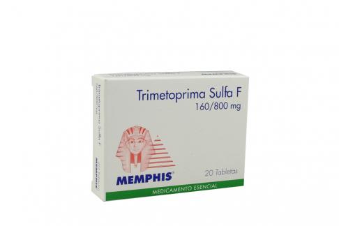 Trimetoprim + Sulfametoxazol 160 + 200 mg caja X 20 Tabletas M-Phis  RX2