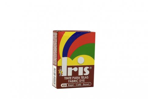 Iris Tinte Para Telas Caja Con Bolsa Con 9 g – Tono Número 25 Rapé Café