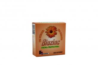 Biozinc Crema Protectora Caja Con Frasco Con 20 g