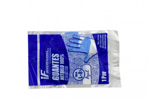 Guantes De Nitrilo Color Azul Talla L Empaque Con 2 Unidades