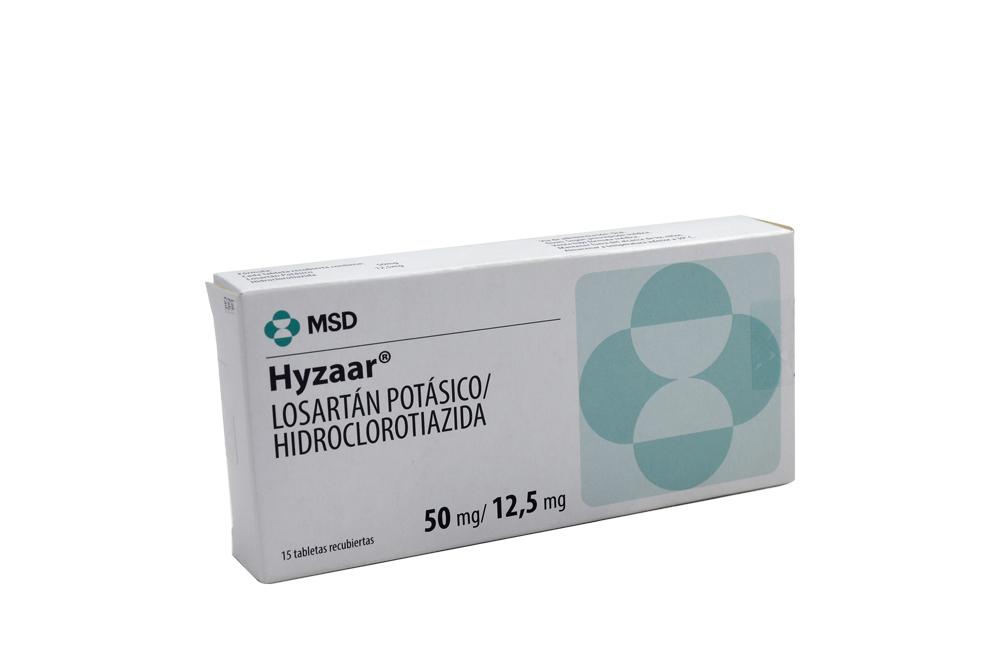 Hyzaar 50 + 12,5 Mg Caja Con 15 Tabletas Rx