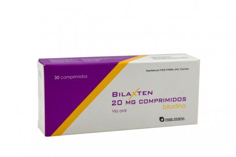 Bilaxten 20 Mg Caja Con 30 Tabletas Rx