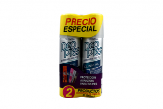 Desodorante Para Pies Deo Pies Clinical Empaque Con 2 Frascos Con 260 mL C/U