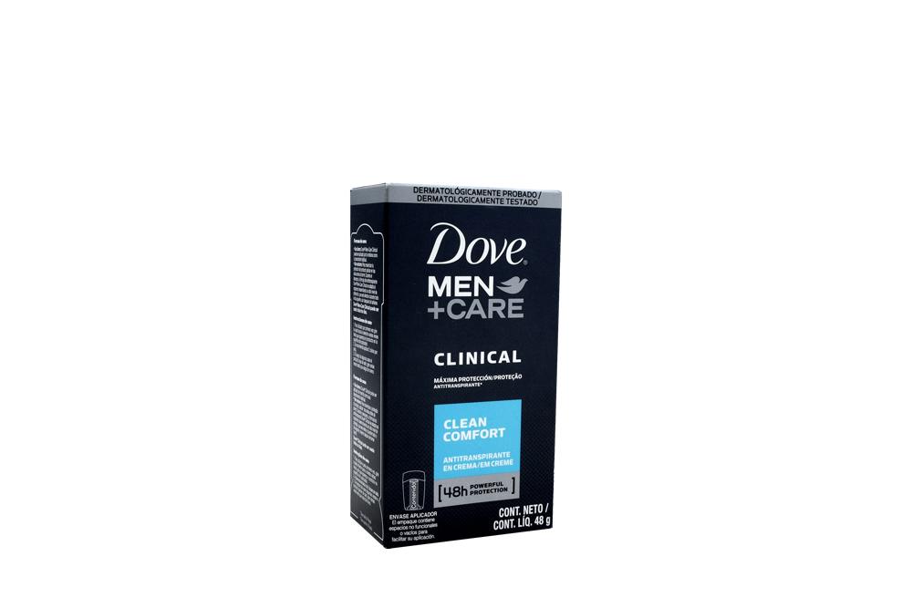 Desodorante Dove Men + Care Clinical Clean Comfort Caja Con Barra Con 48 g