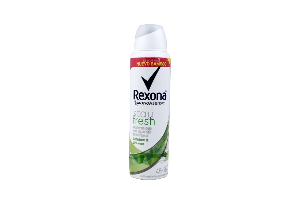 Desodorante Rexona Motion Sense Stay Fresh Aerosol Con 150 mL – Aroma Bamboo & Aloe Vera